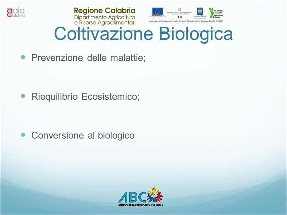 Coltivazione Biologica Prevenzione delle malattie; Riequilibrio Ecosistemico; Conversione al biologico