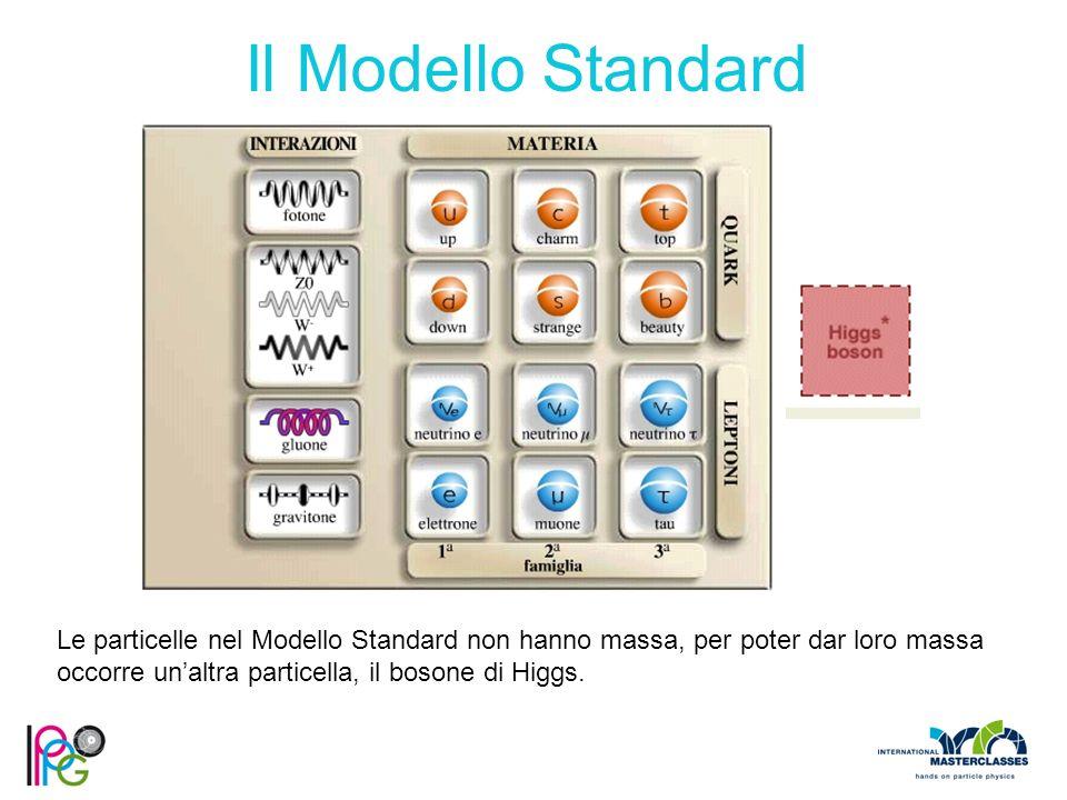 Le particelle nel Modello Standard non hanno massa, per poter dar loro massa occorre un'altra particella, il bosone di Higgs.