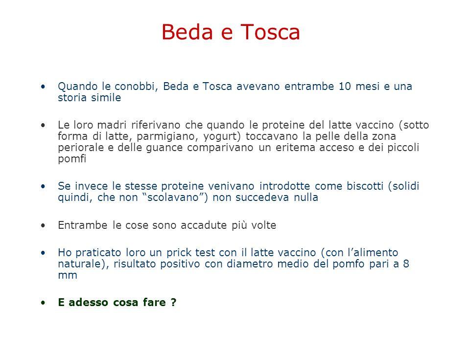 Beda e Tosca Quando le conobbi, Beda e Tosca avevano entrambe 10 mesi e una storia simile Le loro madri riferivano che quando le proteine del latte va