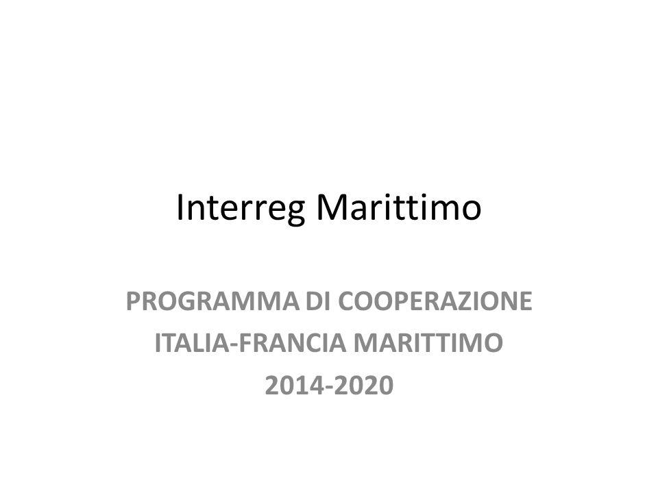 Interreg Marittimo PROGRAMMA DI COOPERAZIONE ITALIA-FRANCIA MARITTIMO 2014-2020