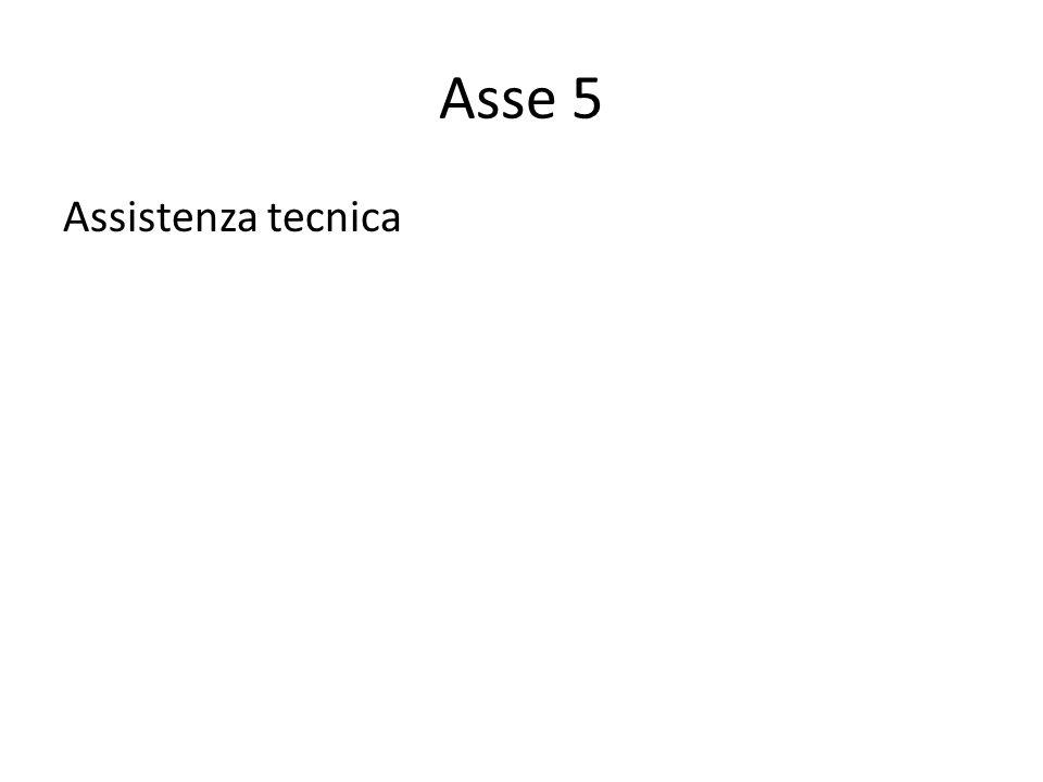 Asse 5 Assistenza tecnica