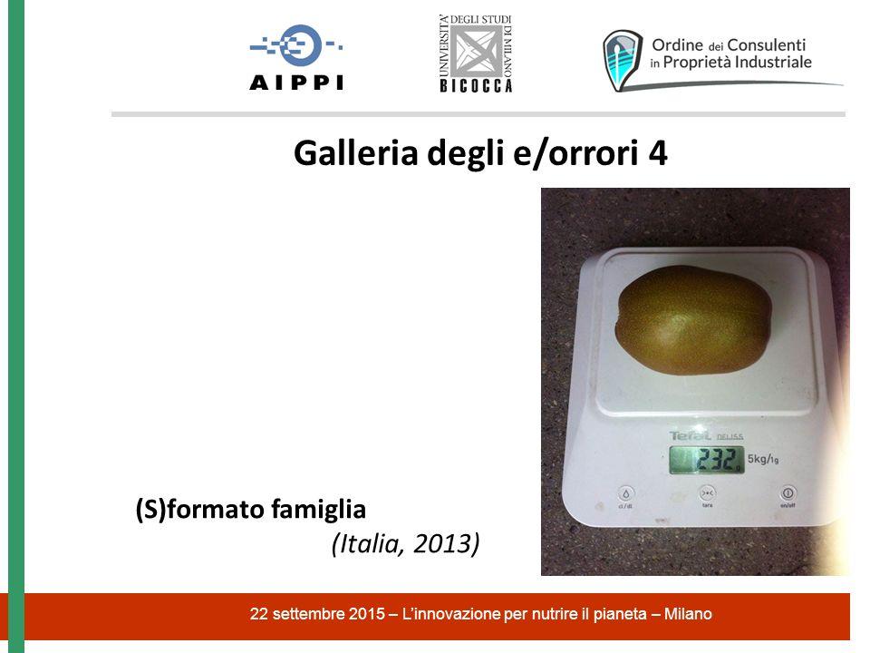 22 settembre 2015 – L'innovazione per nutrire il pianeta – Milano Galleria degli e/orrori 4 (S)formato famiglia (Italia, 2013)