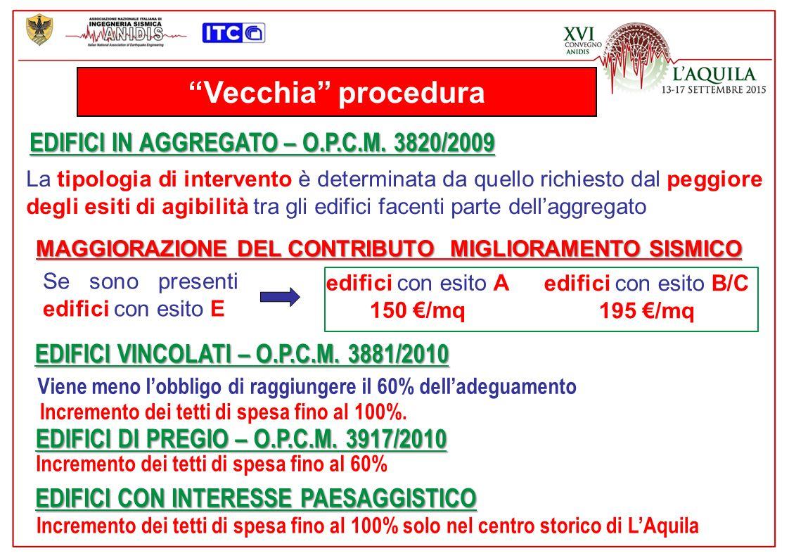 Vecchia procedura EDIFICI IN AGGREGATO – O.P.C.M.