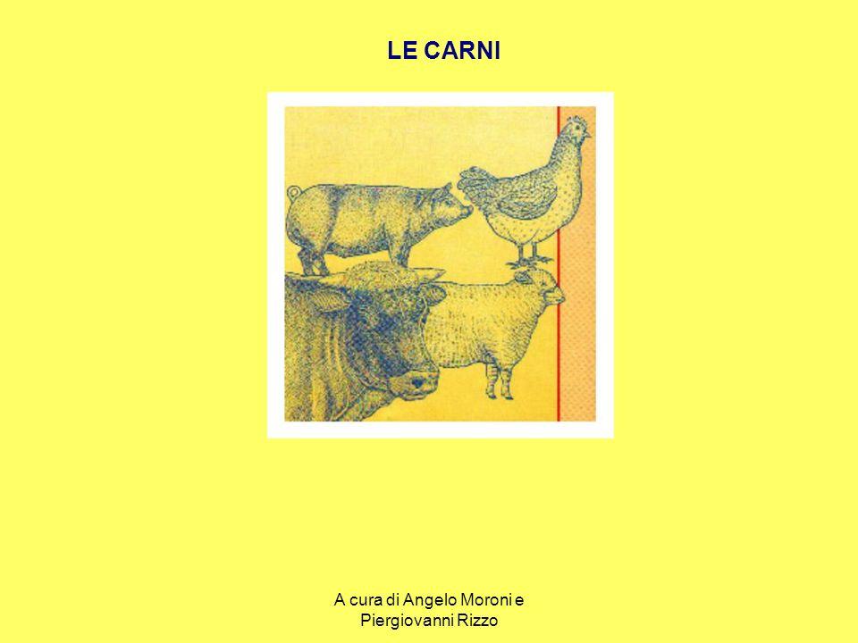 LA CARNE Carne da macello: - Bovini - Ovini - Suini - Caprini - Equini - Bufalini Animali da cortile: - carne bianca - carne nera Selvaggina: - da pelo - da piuma L A V O R A Z I O N E Haccp - Conservazione TAGLIPEZZATUREPEZZATURE E TAGLI LE CARNI DA MACELLO: mappa di definizione e classificazione attraverso si divide otteniamo A cura di Angelo Moroni e Piergiovanni Rizzo