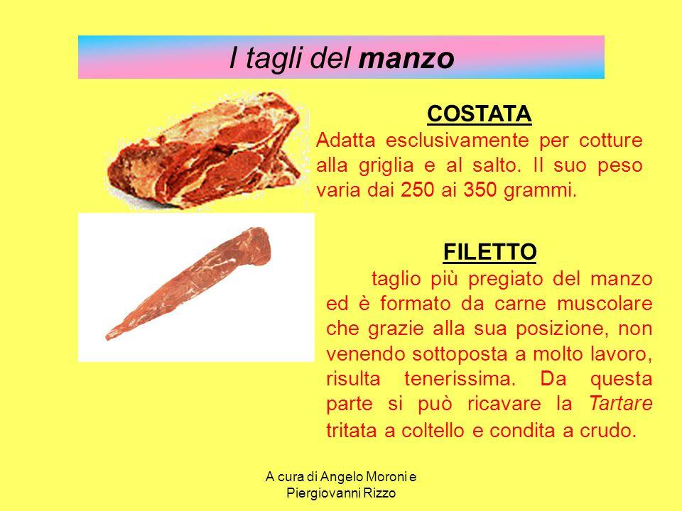 I tagli del manzo FILETTO E' il taglio più pregiato del manzo ed è formato da carne muscolare che grazie alla sua posizione, non venendo sottoposta a