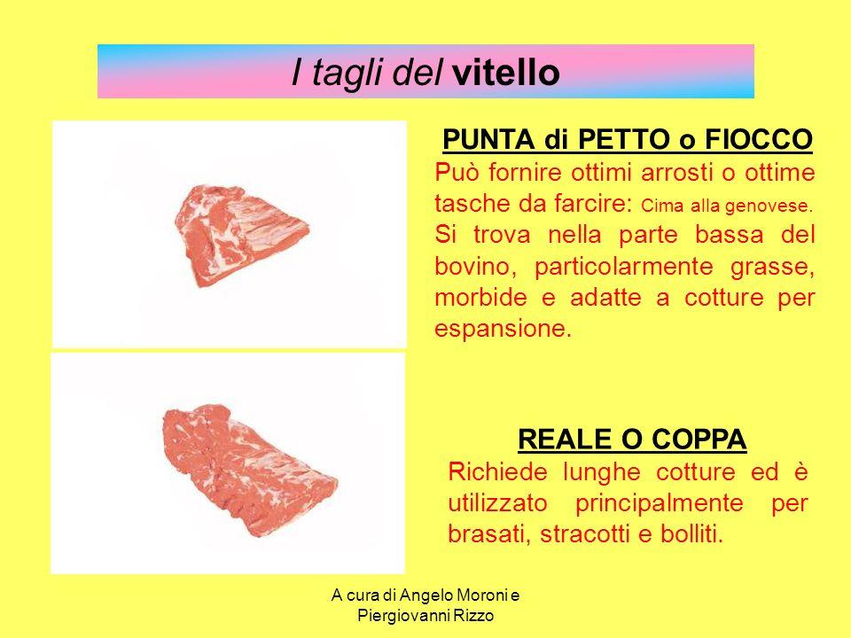 I tagli del vitello PUNTA di PETTO o FIOCCO Può fornire ottimi arrosti o ottime tasche da farcire: Cima alla genovese. Si trova nella parte bassa del