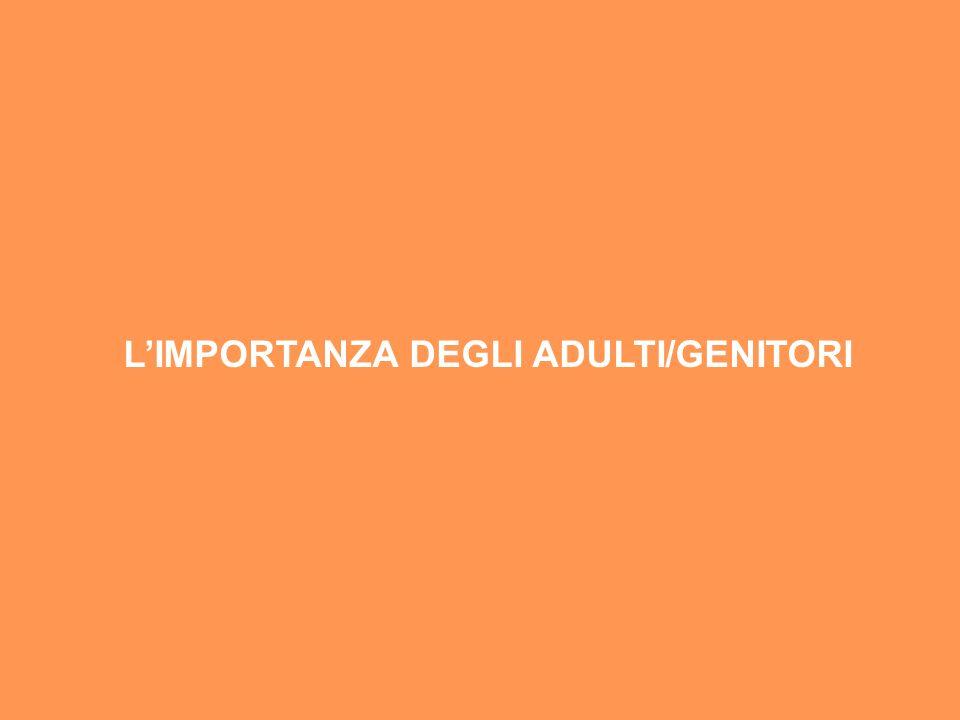 L'IMPORTANZA DEGLI ADULTI/GENITORI