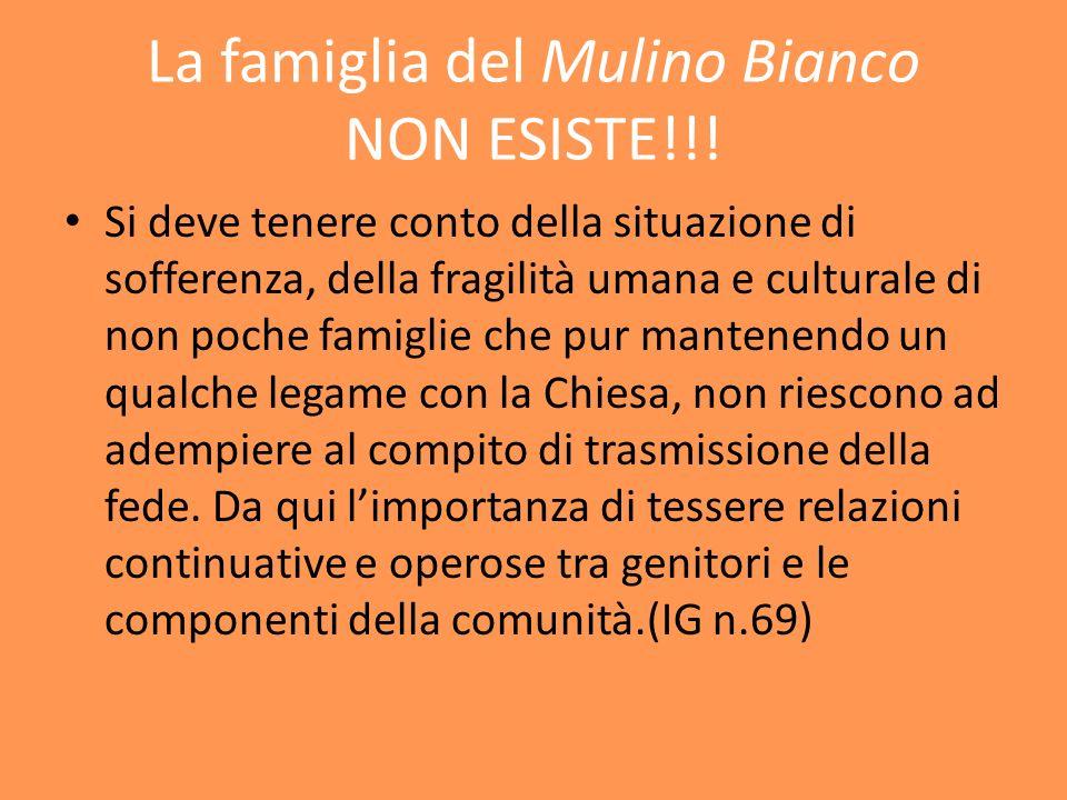 La famiglia del Mulino Bianco NON ESISTE!!.