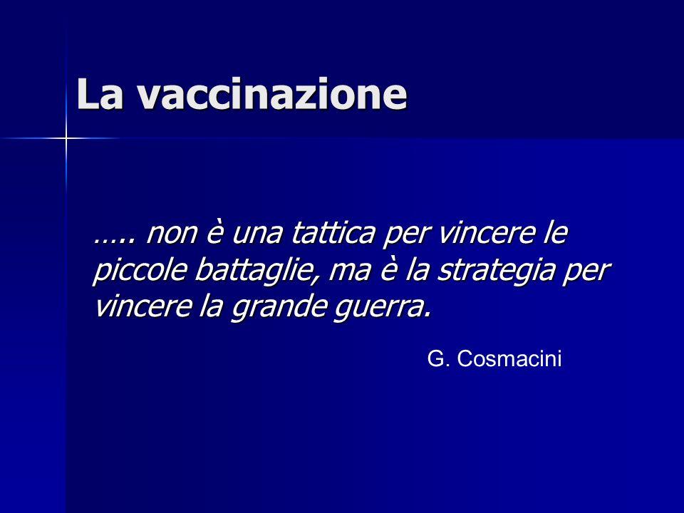 La vaccinazione …..
