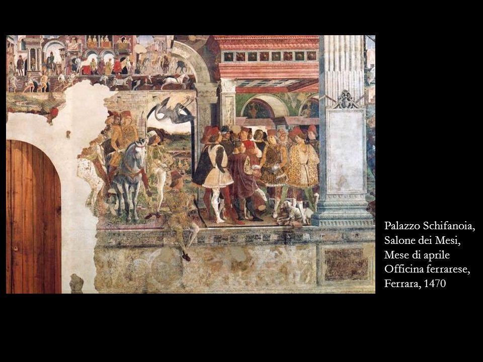 Palazzo Schifanoia, Salone dei Mesi, Mese di aprile Officina ferrarese, Ferrara, 1470