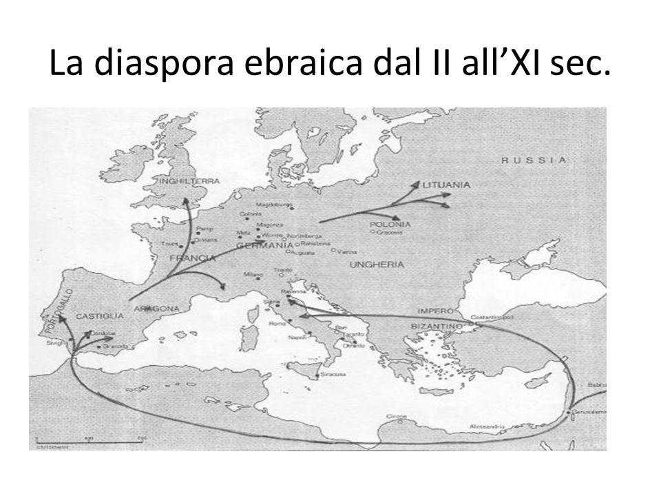 La diaspora ebraica dal II all'XI sec.