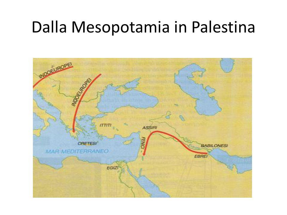 DALL'ETA' DEI PATRIARCHI ALL'ETA' DEI GIUDICI Organizzato in tribù, gli ebrei unificati dal monoteismo si spostano dalla città di Ur alla terra di Canaan in palestina.
