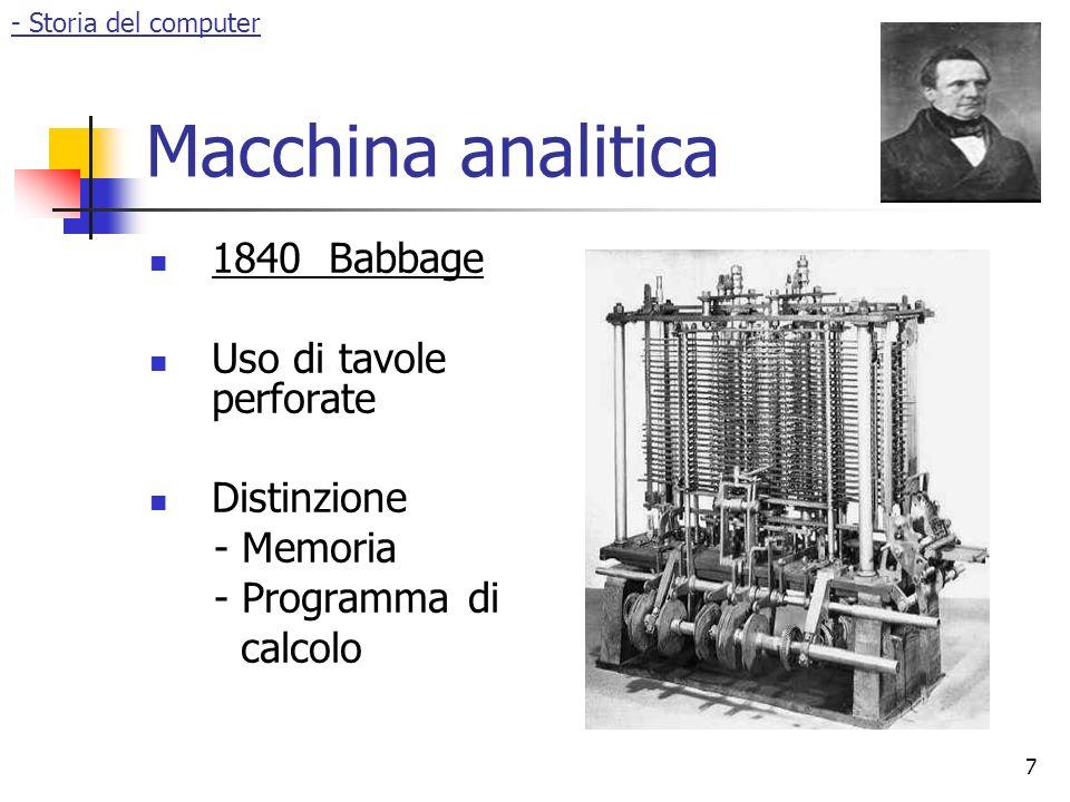 8 Ada Lovelace Algoritmo per la macchina analitica Primo software Basi della programmazione - Storia del computer