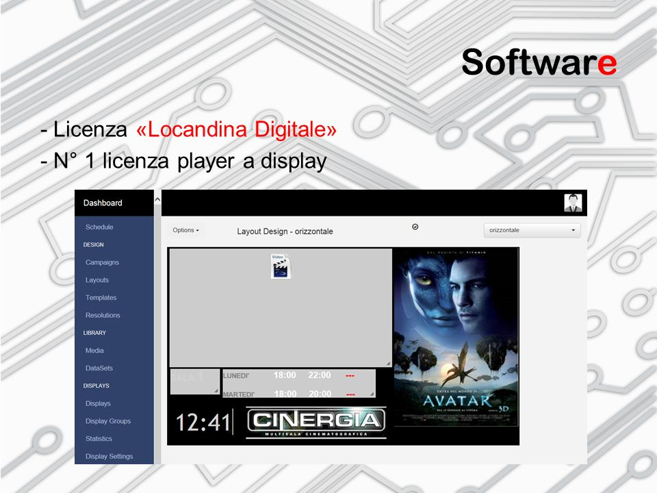 Software - Licenza «Locandina Digitale» - N° 1 licenza player a display