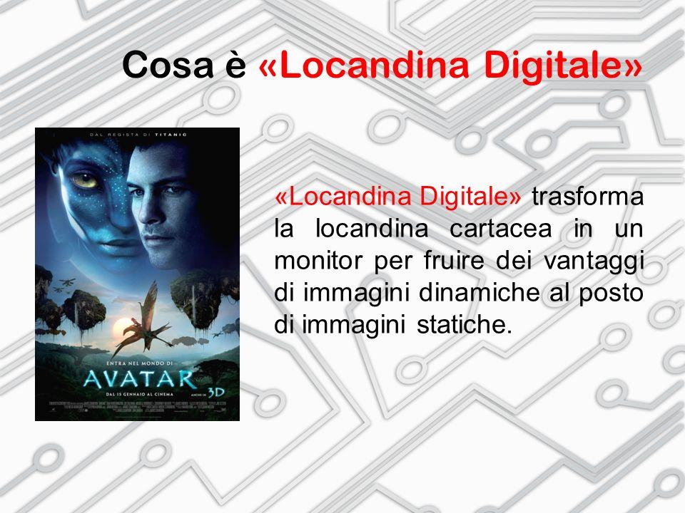 Cosa è «Locandina Digitale» «Locandina Digitale» trasforma la locandina cartacea in un monitor per fruire dei vantaggi di immagini dinamiche al posto di immagini statiche.