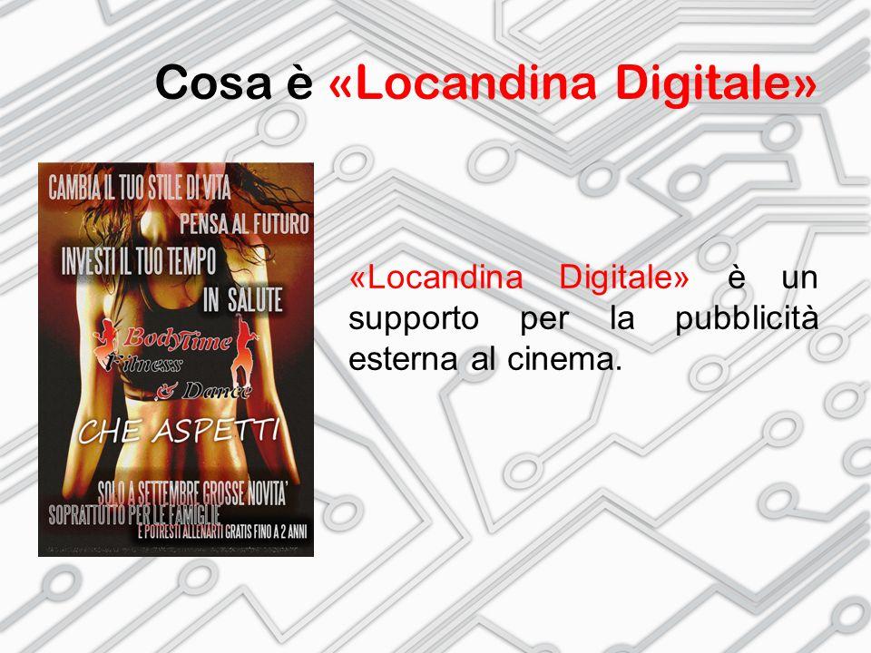 Cosa è «Locandina Digitale» «Locandina Digitale» è un supporto per la pubblicità esterna al cinema.