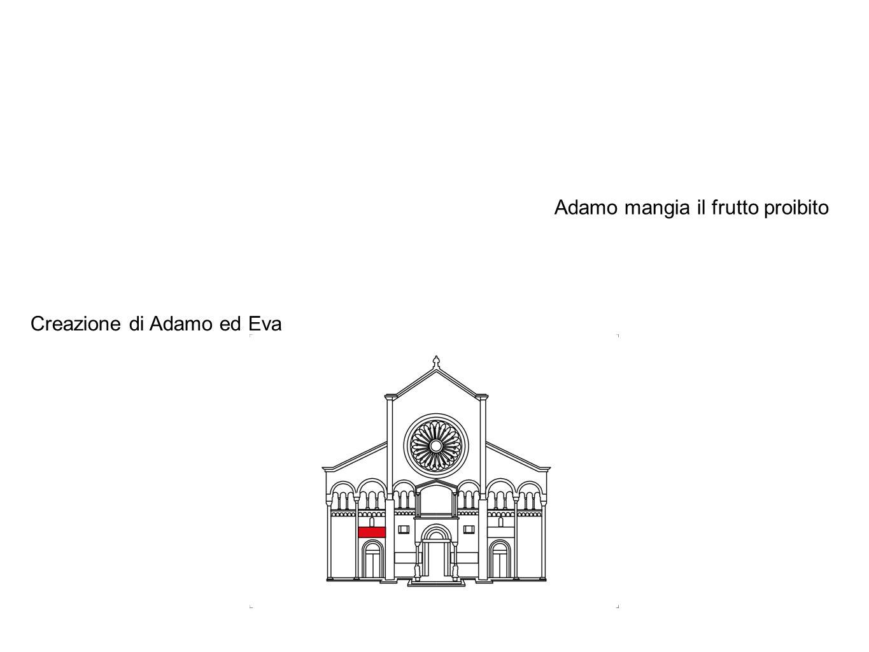 Creazione di Adamo ed Eva Adamo mangia il frutto proibito