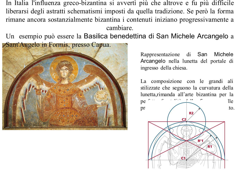 36 In Italia l'influenza greco-bizantina si avvertì più che altrove e fu più difficile liberarsi degli astratti schematismi imposti da quella tradizio