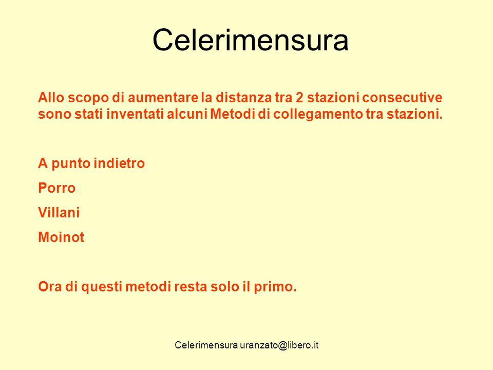 Celerimensura uranzato@libero.it Celerimensura Il rilievo celerimetrico viene indicato nel Libretto Misure Pregeo mediante le righe 1 e 2.