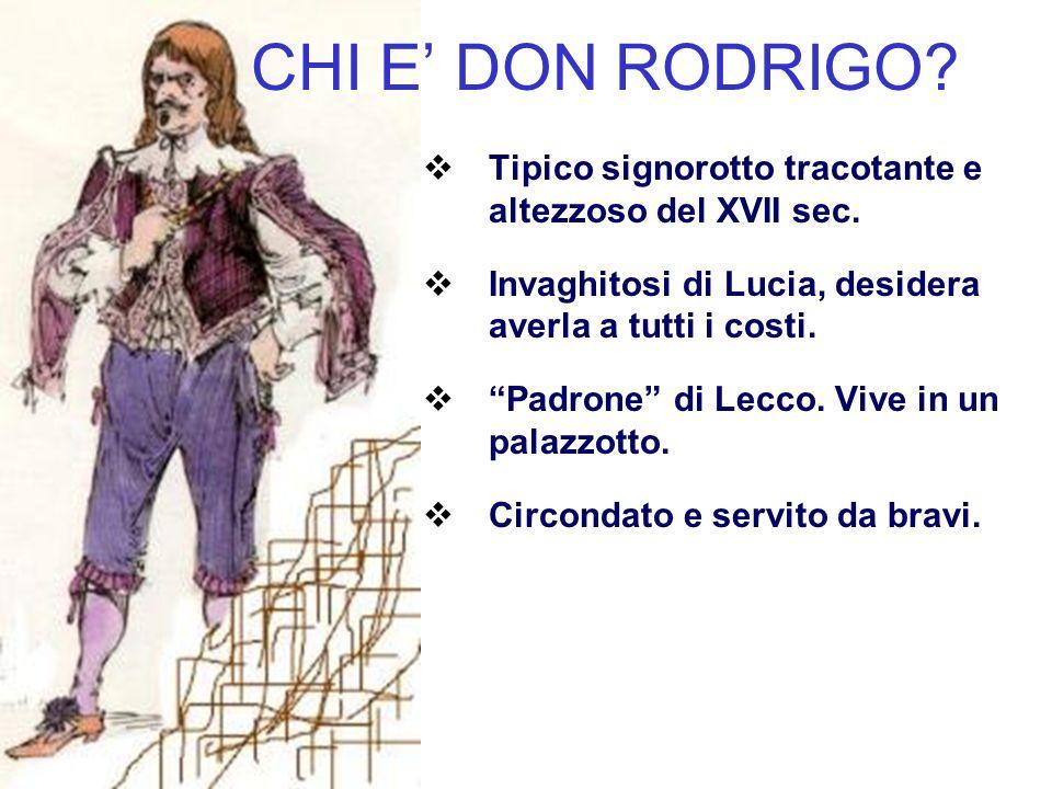 CHI E' DON RODRIGO. Tipico signorotto tracotante e altezzoso del XVII sec.