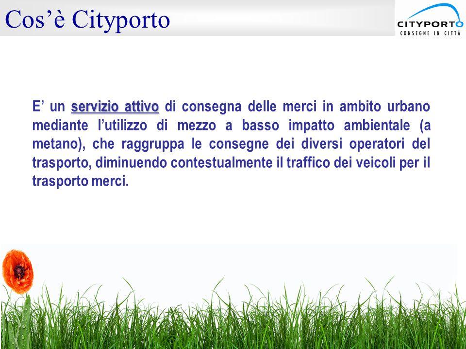 servizio attivo E' un servizio attivo di consegna delle merci in ambito urbano mediante l'utilizzo di mezzo a basso impatto ambientale (a metano), che