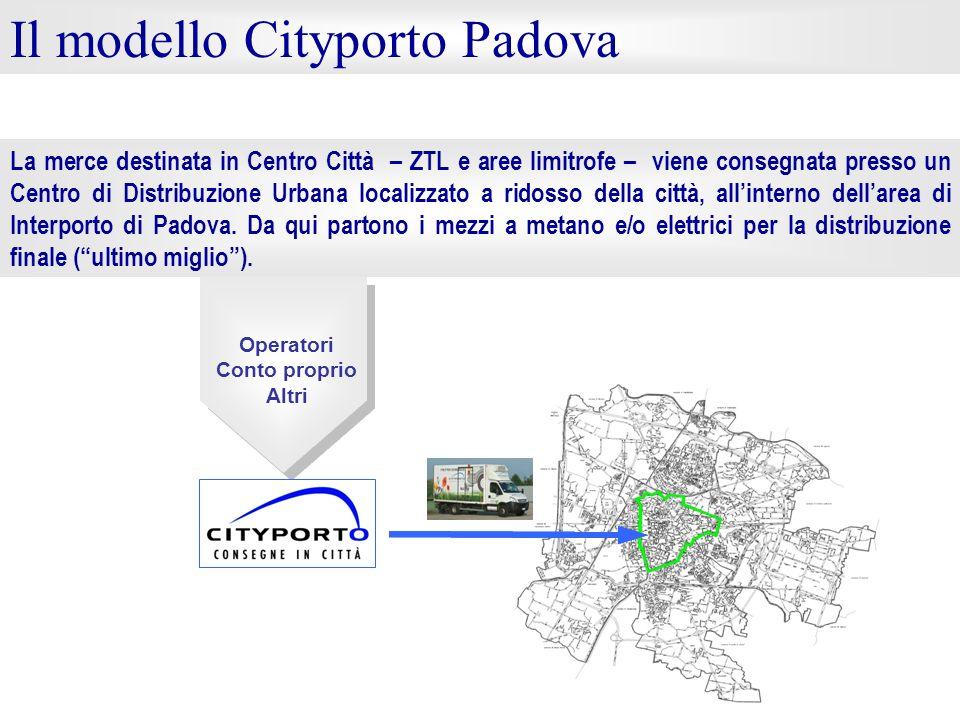 La merce destinata in Centro Città – ZTL e aree limitrofe – viene consegnata presso un Centro di Distribuzione Urbana localizzato a ridosso della citt