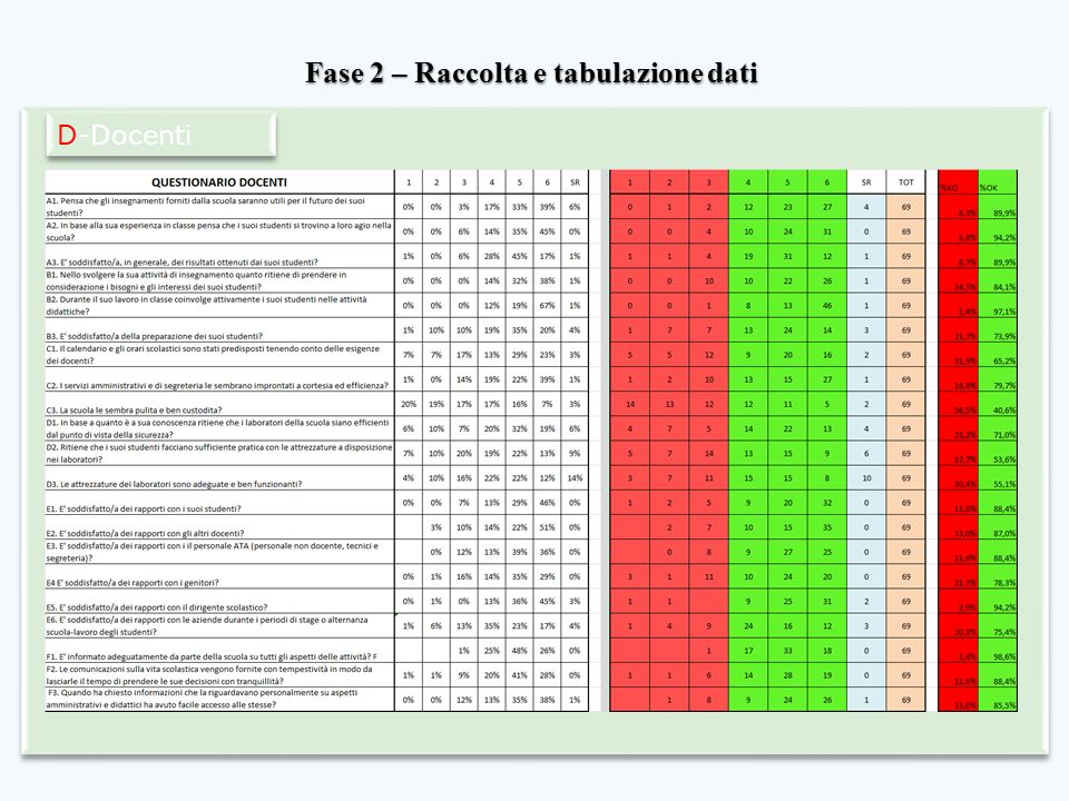 Fase 2 – Raccolta e tabulazione dati D-Docenti
