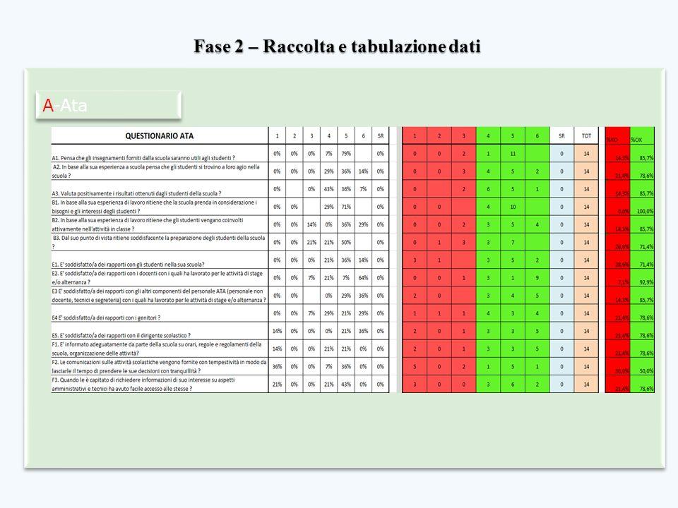 Fase 2 – Raccolta e tabulazione dati A-Ata