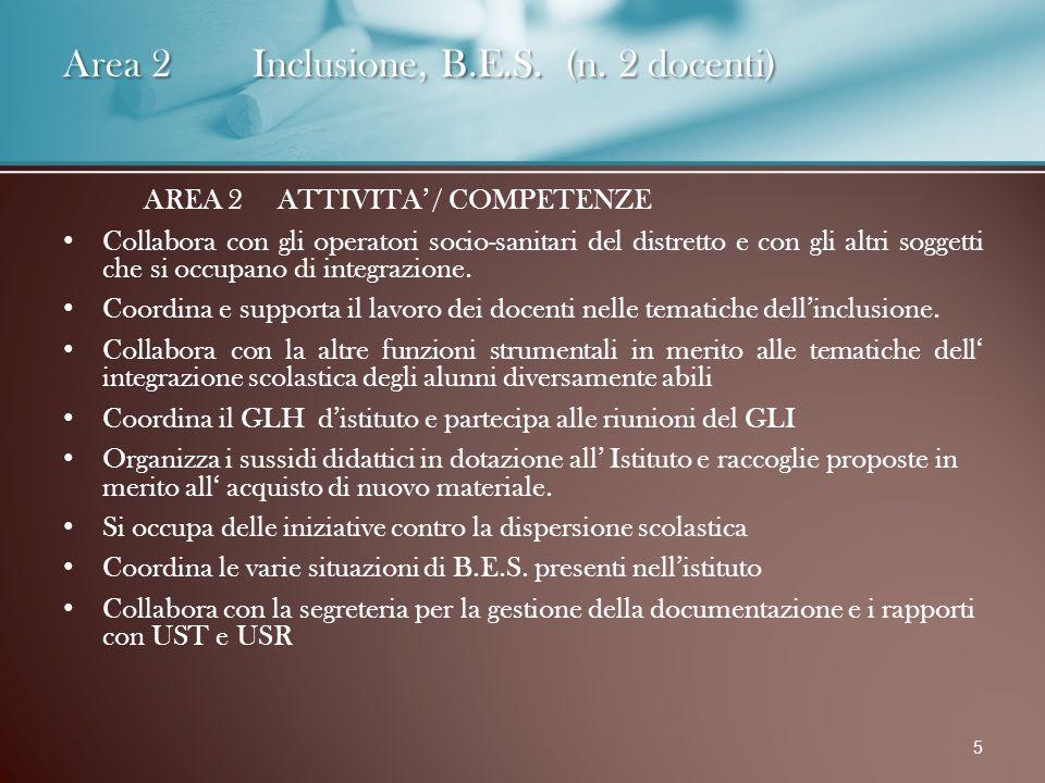 Area 2 Inclusione, B.E.S. (n.