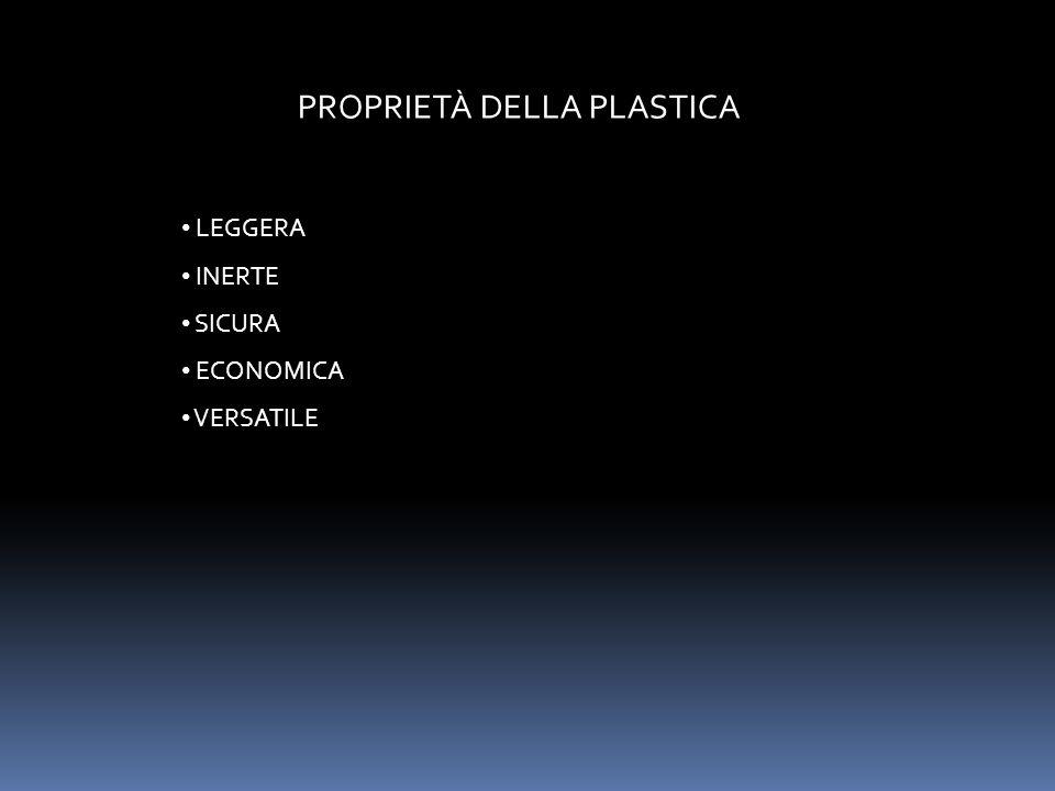 PROPRIETÀ DELLA PLASTICA LEGGERA INERTE SICURA ECONOMICA VERSATILE