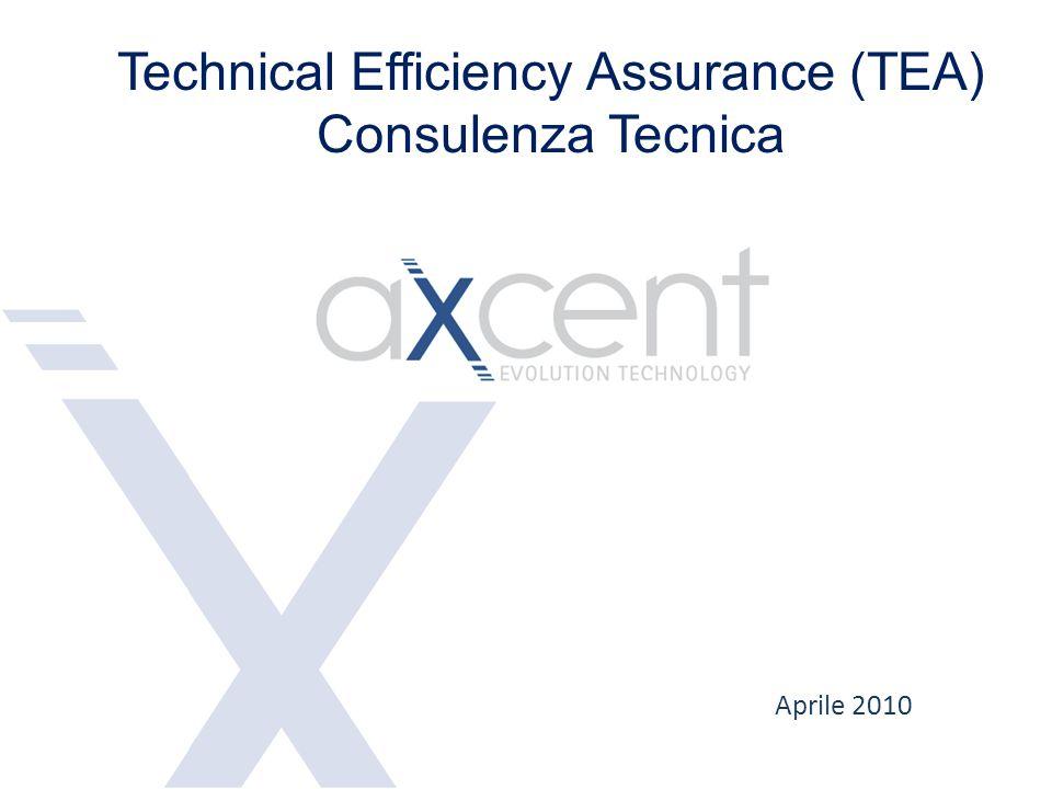 Axcent propone di fornire servizi nell'ambito delle attività ed obiettivi di Tecnical Efficiency Assurance, in particolare: Service Quality Assurance SQA Verifica e Controllo generazione xDR Revenue Assurance and Maximization Controllo e supporto Roll out Technical Efficiency Assurance