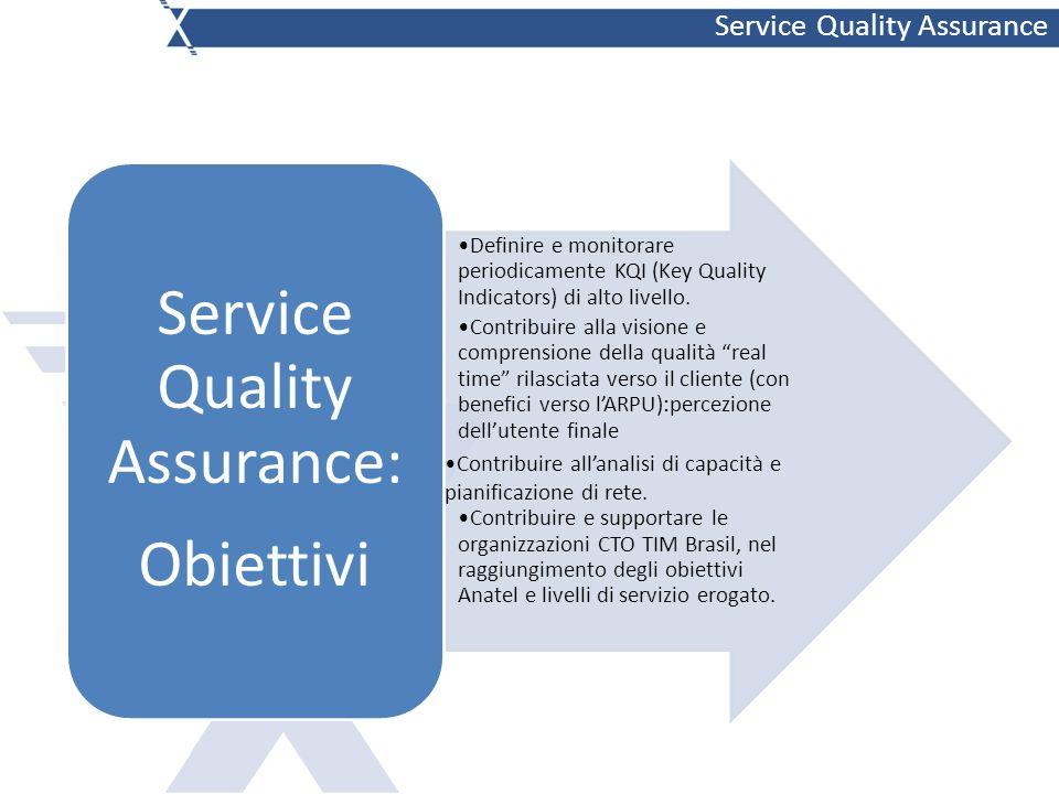 Definire e monitorare periodicamente KQI (Key Quality Indicators) di alto livello.