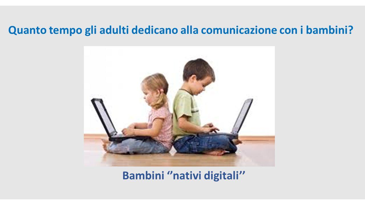 Video Raffaele Morelli «Bambini e tecnologia» Quanto tempo gli adulti dedicano alla comunicazione con i bambini? Bambini ''nativi digitali''