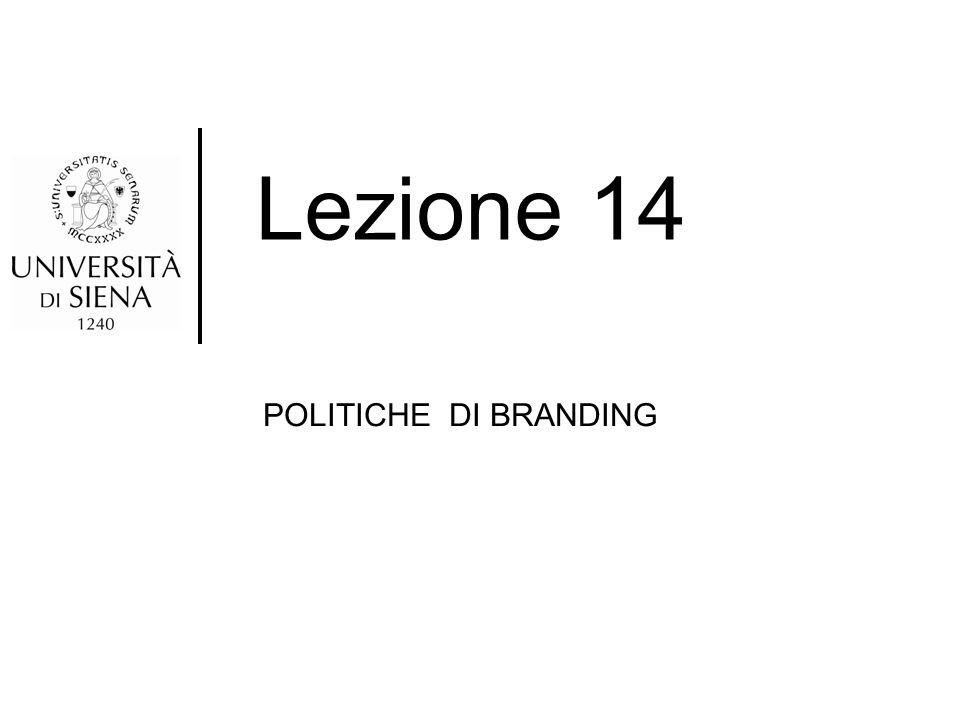 Lezione 14 POLITICHE DI BRANDING