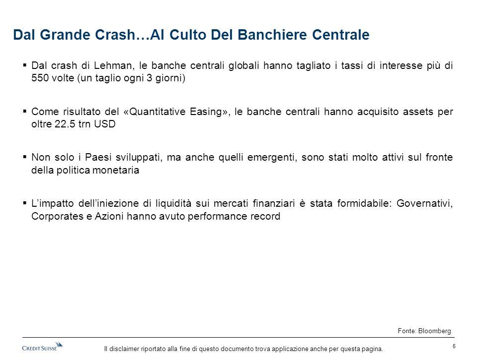 Il disclaimer riportato alla fine di questo documento trova applicazione anche per questa pagina. Dal Grande Crash…Al Culto Del Banchiere Centrale  D