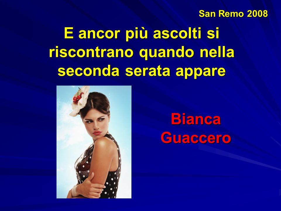 San Remo 2008 Ma diciamoci la verità … anche le cantanti hanno fatto del loro meglio … Anna L'Aura Lola