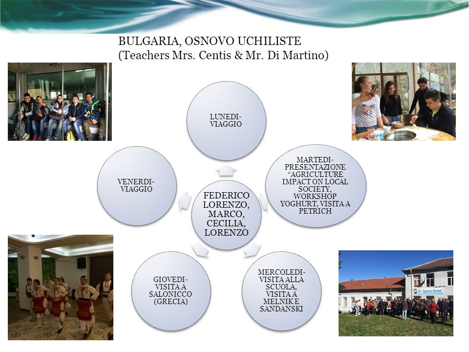 BULGARIA, OSNOVO UCHILISTE (Teachers Mrs. Centis & Mr.