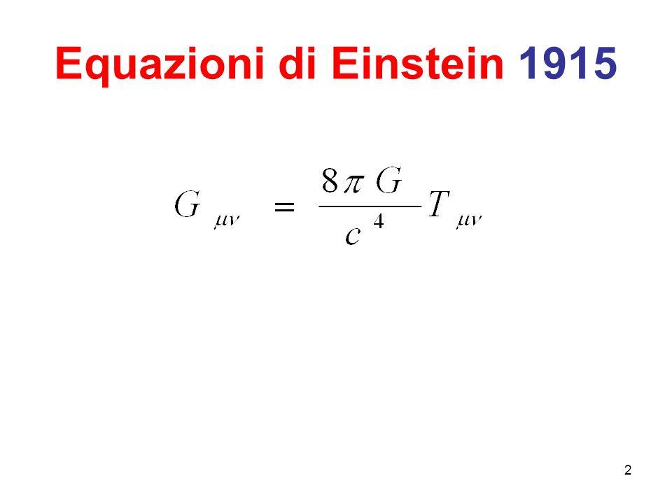 Tutto bene allora per il Modello di Einstein ? Il Modello è In Buona Salute ? 13