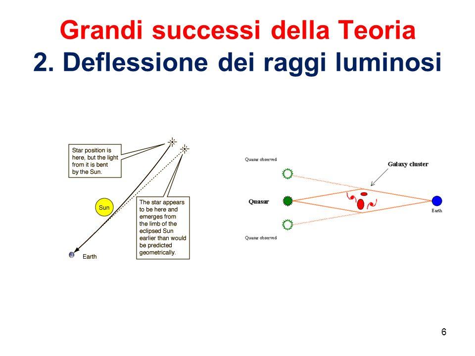 Grandi successi della Teoria 2. Deflessione dei raggi luminosi 6