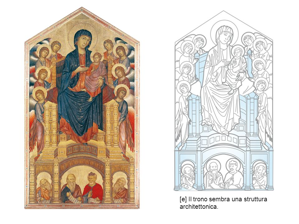 [a] Sotto le vesti di Vergine e Bambino si indovinano corpi compatti e ben definiti.