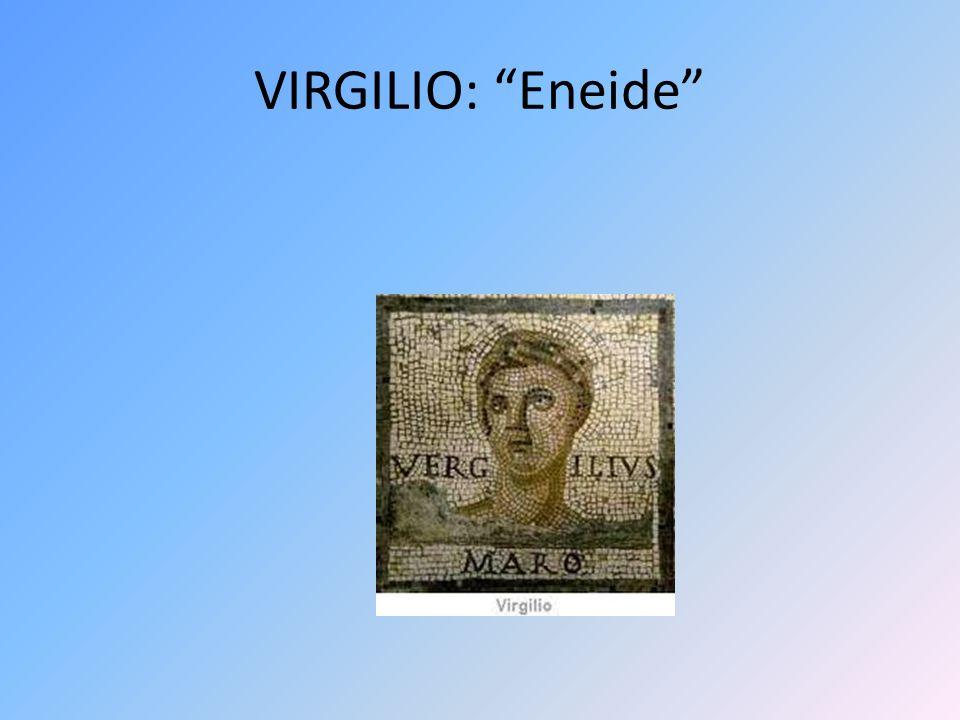 QUADRO SINOTTICO VIRGILIO 1.Nascita 2.Formazione 3.Opere a.Bucoliche b.Georgiche c.Eneide 4.