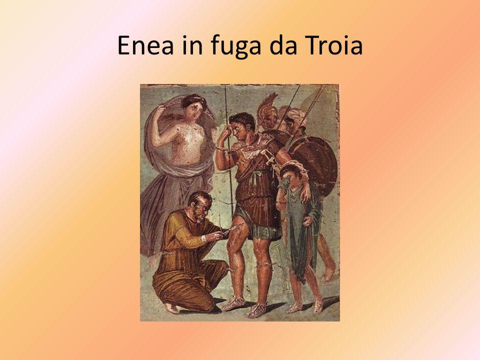Enea in fuga da Troia