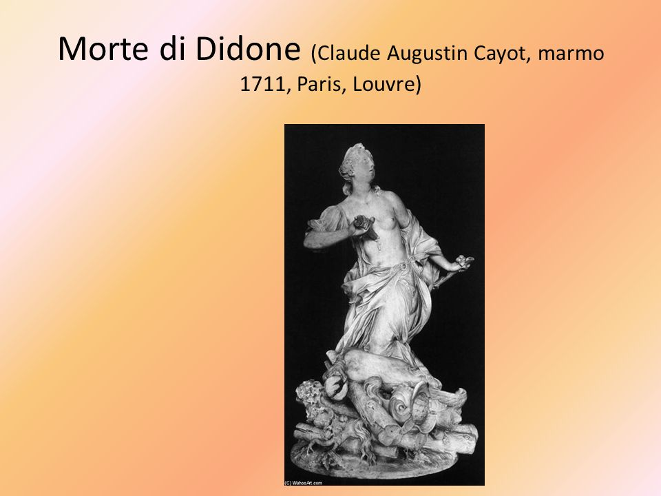 Morte di Didone (Claude Augustin Cayot, marmo 1711, Paris, Louvre)