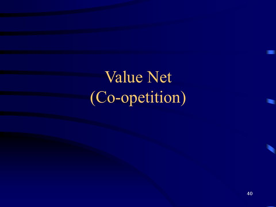 Value Net (Co-opetition) 40