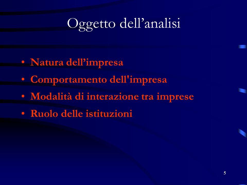 96 La specializzazione produttiva. Fonte: Quinteri 2007