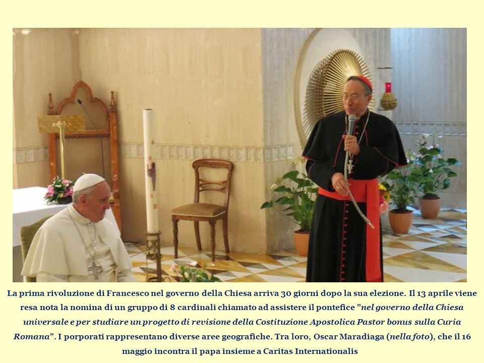 La prima rivoluzione di Francesco nel governo della Chiesa arriva 30 giorni dopo la sua elezione.