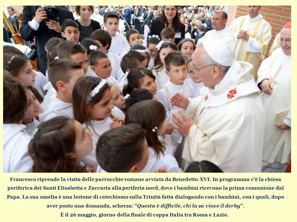 Francesco riprende la visita delle parrocchie romane avviata da Benedetto XVI.