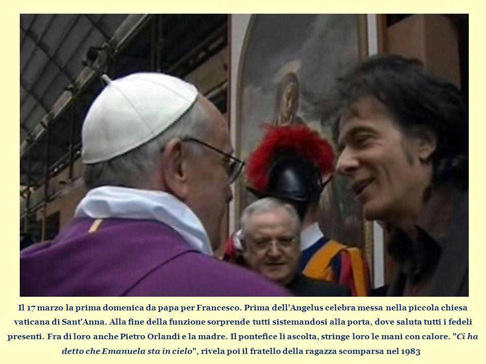 Il 17 marzo la prima domenica da papa per Francesco.