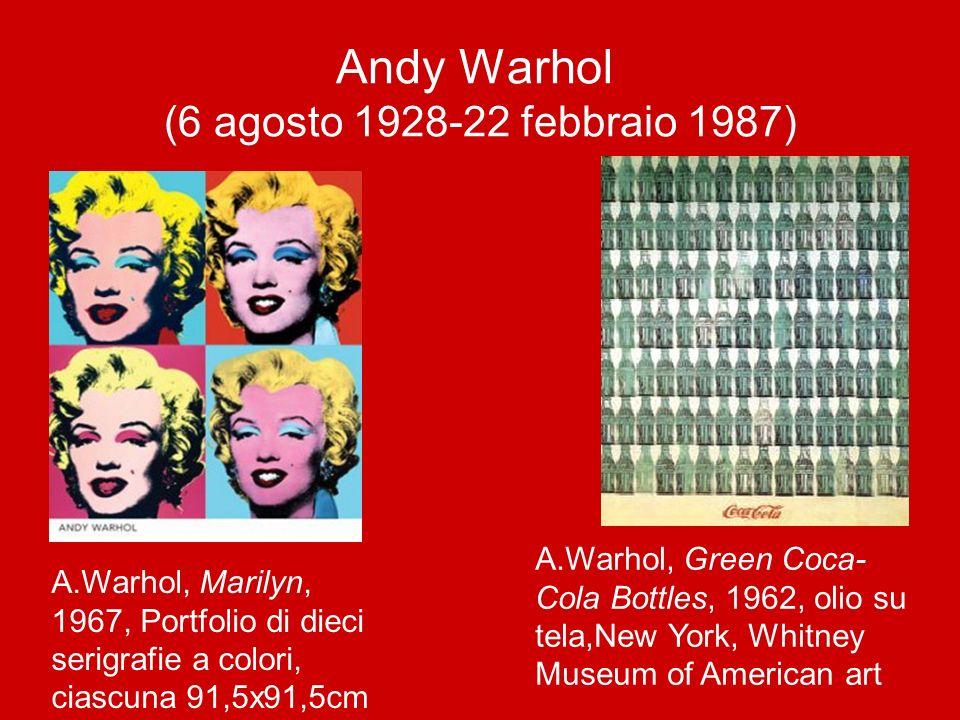 Andy Warhol (6 agosto 1928-22 febbraio 1987) A.Warhol, Marilyn, 1967, Portfolio di dieci serigrafie a colori, ciascuna 91,5x91,5cm A.Warhol, Green Coc