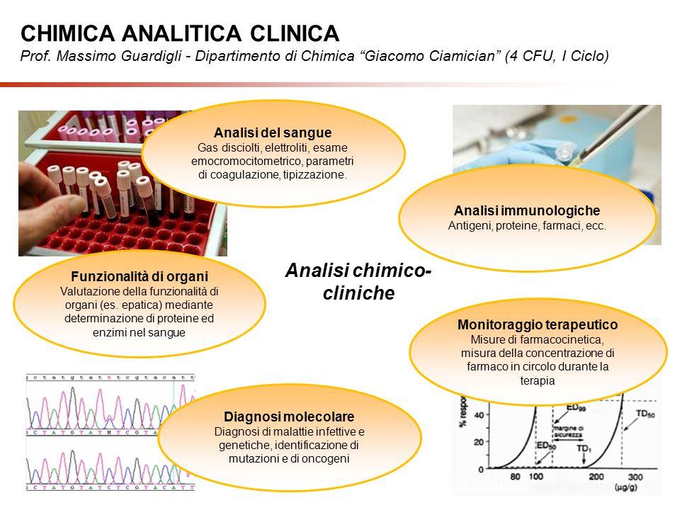 Analisi chimico- cliniche Funzionalità di organi Valutazione della funzionalità di organi (es.